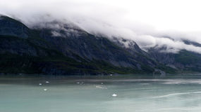 Clouded Mountains. Of Glacier Bay Royalty Free Stock Images