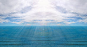 Clouded sea horizon Stock Images