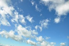 Clouded sky. In blue n white cumulus Stock Image