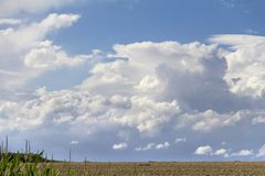 Rural landscape with clouds Stock Image