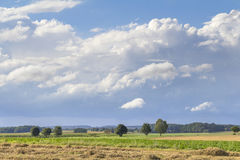 Rural landscape with clouds Stock Photography