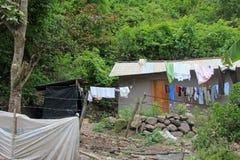 cloudforest的地道房子厄瓜多尔山 免版税库存图片