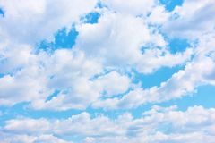 Cloudiness - cumulus clouds royalty free stock photos