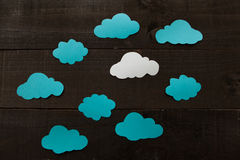 Clouding. Photography imitating iconographic illustrations and comic Royalty Free Stock Image