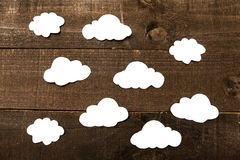 Clouding. Photography imitating iconographic illustrations and comic Royalty Free Stock Photos