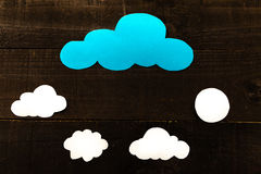 Clouding. Photography imitating iconographic illustrations and comic Royalty Free Stock Images