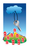 Cloudkazakey stock illustration