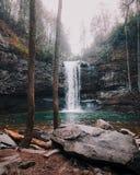 Cloudland峡谷瀑布,监视山TN 免版税库存照片