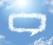 Cloudlet en la forma de un diálogo Fotos de archivo libres de regalías