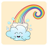 Cloudlet and rainbow Royalty Free Stock Photos