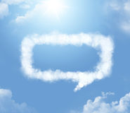 Cloudlet in the shape of a dialogue Royalty Free Stock Photos