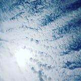 cloudly天空 免版税库存照片