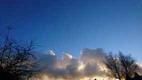 cloudly небеса Стоковое Фото