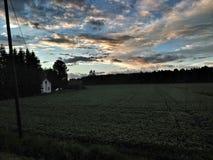 Cloudly en kleurrijke hemel Stock Afbeeldingen