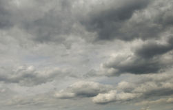 Cloudly skies Stock Image