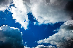 Cloudly sky after the storm Royalty Free Stock Photography