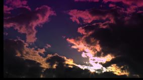 Moving clouds and dark sky. Clouds – dark sky, time lapse- time lapse speed 10x stock video