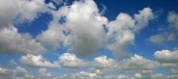 Clouds. Wide angle of great looking clouds Stock Photography