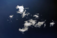 Clouds. In the sky stock image