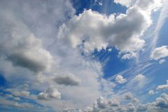 Clouds. White clouds on blue sky Royalty Free Stock Images
