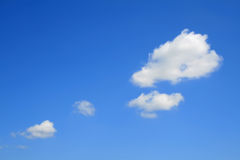 Clouds. Clear blue sky with several clouds Stock Images