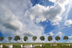Clouds. White clouds on blue sky in Petergof Royalty Free Stock Photo