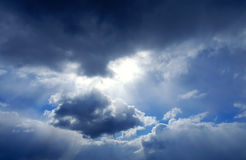 Clouds. Sun & clouds Royalty Free Stock Photos