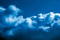 Clouds. Big blue Royalty Free Stock Photo