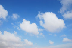 Clouds. Beautiful white clouds on blue sky Royalty Free Stock Photos