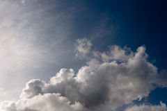 Clouds. White clouds against stormy dark sky Royalty Free Stock Photography