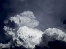 Clouds. Thunderhead rear up in a blackend sky Royalty Free Stock Photo