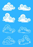 Clouds. The stylised clouds. A illustration stock illustration