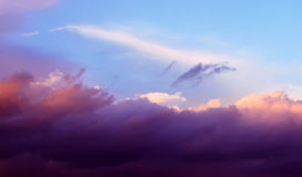 Clouds. Cloudy, colourful sky at sunset Royalty Free Stock Photos