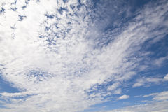 Clouds. Nice background with white clouds in front of a big blue sky Stock Photography