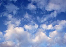 Clouds. In a Blue Sky Royalty Free Stock Photo
