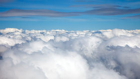 Clouds. On a blue sky background Stock Photo