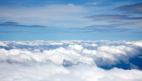 Clouds. On blue sky background Stock Photos