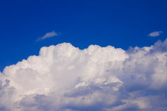 Clouds. Thick white clouds on bright blue sky Stock Photos