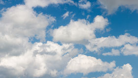 Clouds. White clouds in sunny blue sky Stock Photo