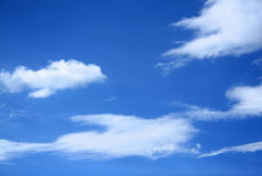 Clouds. Several clouds on a blue sky Stock Photo