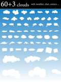 Clouds. Collection of different clouds for web, weather, chat, comics and other Stock Photo