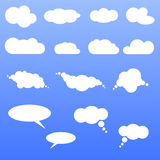 Clouds. Set of  white clouds for web, chat, weather and other Stock Photo
