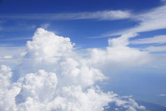 Clouds. A group of clouds on a clear day Royalty Free Stock Images