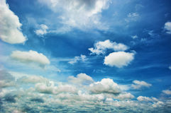 Clouds. White clouds with the blue sky in the background Royalty Free Stock Images