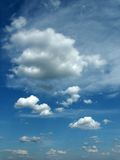 Clouds. On blue sky. Ideally for background Royalty Free Stock Photo