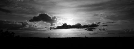 Clouds. Over the Tallinn Stock Photos