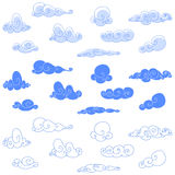Clouds. Design set of stylized clouds Stock Images