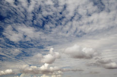 Clouds. Cloud patterns with a blue sky background Stock Image