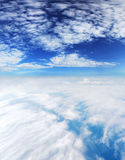 Clouds. Beautiful view from above clouds Royalty Free Stock Image