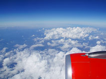 Clouds. Beautiful clouds photographed from an airplane Stock Image